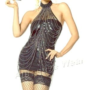Beaded Flapper Costume by Leg Avenue